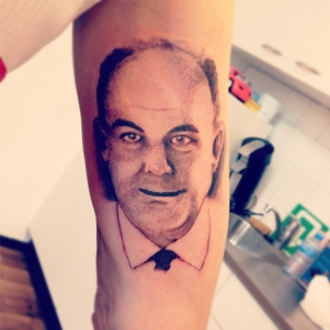 Fathers portrait tattoo